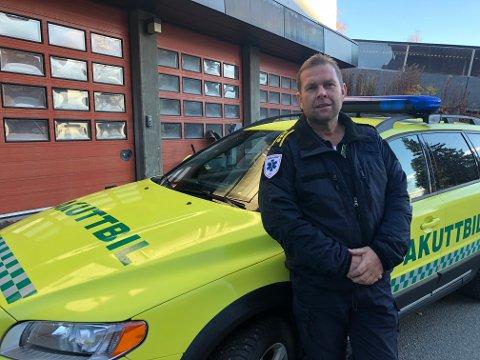 Håvard Åsengen, områdeleder for ambulansetjenesten i Oppland.