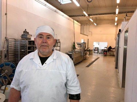 Produksjonssjef: Stig Rønning er godt fornøyd med lokalene på Breiset, som nå er tilpasset og modernisert til kjøttproduksjon.