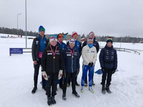 Valdriser: En stor kontingent skiskyttere fra Øystre Slidre skiskyttarlag og Skrautvål idrettslag deltok i årets østlandsmesterskap i Karidalen på Østre Toten.