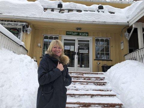 Ser en utvikling: Anne Berit Leithe-Husager kjøpte Fagerlund Hotell i 2007 med tanke om å drive hotellet. Men, stående igjen alene etter at ektemannen gikk bort, har hun endret planene for området. Nå ser hun for seg tre ulike leilighetsbygg på fire etasjer og med parkeringshus i kjelleren.