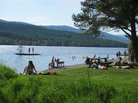 Full sommar: Friluftsområdet Furustrand var populært i sommar.