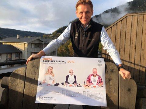 Klar: General Håvard Halvorsen er klar for å jobbe med sin tiende rakfiskfestival.