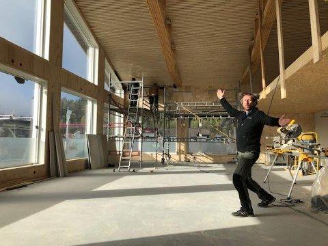 Gleder seg: Gudbrand Heiene ved kulturkontoret i Vestre Slidre gleder seg til åpninga av Jokerspace i Ryfoss om drøye tre uker.