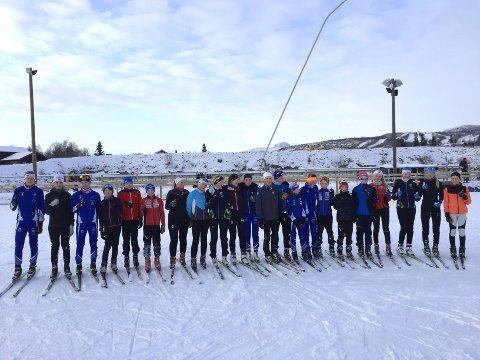 Beitostølen: Her er Valdres Ski sine utøvere på sin andre økt på Beitostølen skistadion søndag.