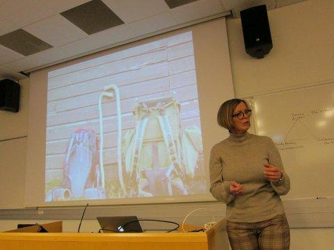 Vandrarpresten: Den gode samtalen medan du går er ein viktig del av turen, sa Ingebjørg Vik Laugaland.