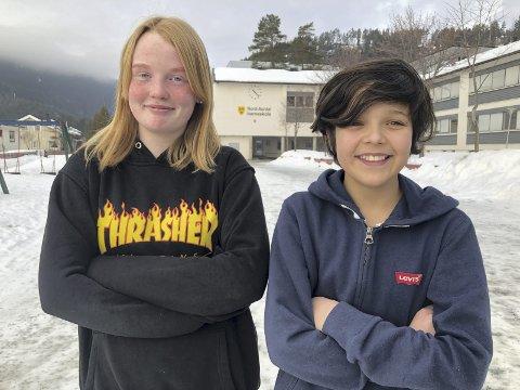 Ja til mat: Emma og Oliver er sikker på at gratis skolemat vil bety mye for trivselen og arbeidsinnsats på skolen.