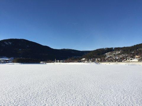 Verdt turen: Skaren på isen på Strandefjorden bærer godt.