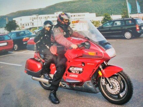 Tore Gullhaug på sin Honda ST 1100. Foto:Privat