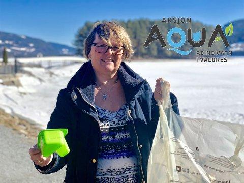 Håper å se deg også: Ordfører og regionrådsleder Inger Torun Klosbøle, er ivrig på å rydde søppel, også i hverdagen. Nå gleder hun seg til å gjøre en innsats for Valdres-vassdraga under Strandryddedagen.