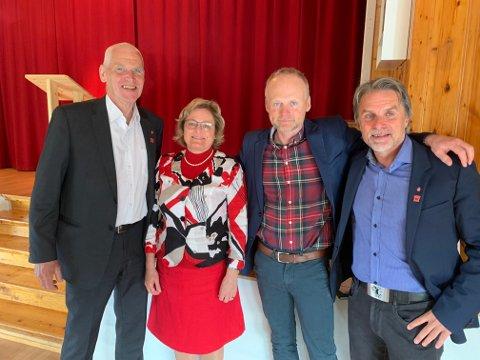 To eksordførere, en sittende ordfører og en ordførerkandidat på samme brett. Sammen utgjør Ove Skaret, Gro Lundby og Kjell Berge Melbybråten en ubrutt linje tilbake til 1999. Bjarne Budal vil bli den fjerde Ap-ordføreren på rad om han lykkes.