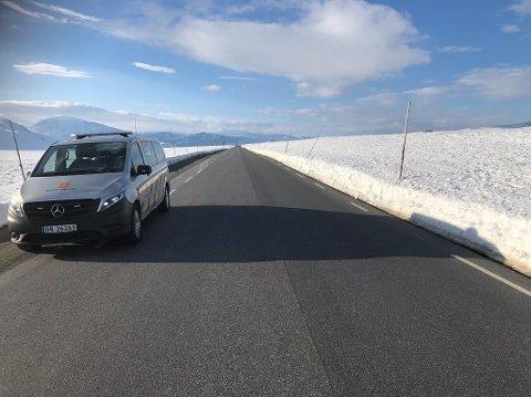 Forholdene på Valdresflye var utmerket da Statens vegvesen var oppe tirsdag.