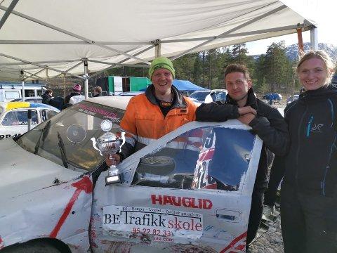 Deltok på Bjorli: Fra venstre Alexander Hauglid, Steffen Raaholdt og Åshild Onstad.