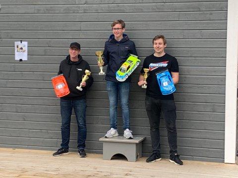 Pallen: De tre beste i 2. Norgescuprunde ble f.v. Trygve Bull Freng, Olav Dahle og Helge Naley.