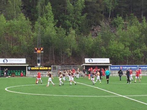 Jevn: Fagernes og Kongsvinger møttes til dyst lørdag med Sven Olav Fossholt som dommer.