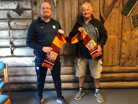 Ny leder: Ole Kristian Skogum t.v. tar over som daglig leder etter Karl Hope som har vært konstituert i stillingen den siste tiden.