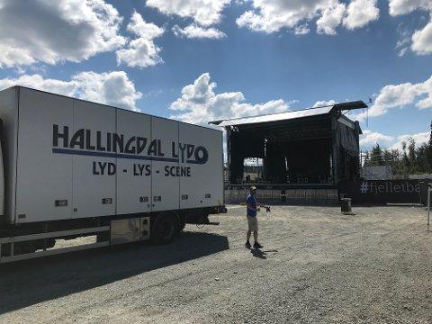 Stor jobb: Hallingdal Lyd har de fire siste åra sørga for all lydproduksjon på Trollrock.