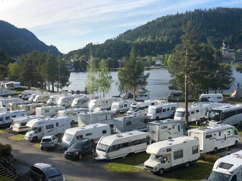 Øker: Strømmen av norske bobilturister til Fagernes Camping øker.