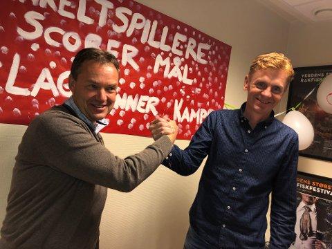 Vinner: Sp og Knut Arne Fjelltun (t.v.) fikk flest stemmer i Nord-Aurdal, etterfulgt av Ap og Håvard Halvorsen. Fjelltun er ny ordfører, med et lite forbehold, om at de blir enig om et samarbeid med Ap.