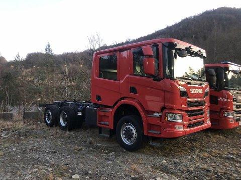 NY BRANNBIL: Nord-Aurdal brannvesen oppgraderer utstyrsparken, og kjøper inn to nye brannbiler. Egenes Brannteknikk i Flekkefjord jobber med å bygge denne nye tankbilen, som kommer til Nord-Aurdal i løpet av våren.