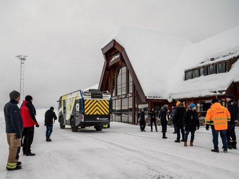 SYMBOLIKK: I fjor ble det testet en elektrisk brannbil på Leirin. . Foto: Erik Eggum