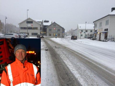 Snøen kom: Tysdag vakna folk til eit snødekt Valdres.