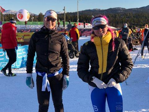 Videre sammen: Rutinerte Mari Eide (t.v.) kom i samme heat som Ronja Håkenstad Evertsen, begge fra Øystre Slidre Idrettslag.