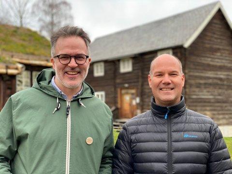 Dynamisk dua: Knut Aastad Bråten og Frank Rolland leder henholdsvis Hilme og Strunkeveko. Foto:Privat