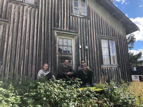 HAR KJØPT SMÅBRUK: Victoria Ose (28), Sindre Eikeland (31) og Raymond Olsen (30) har realisert småbrukdrømmen i Vang.