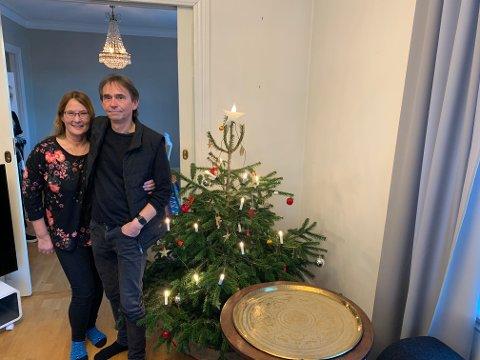 Monica Winkel og Arild Jacobsen er klare for julefeiring i Fredrikstad. Her på et privat besøk i byen. Foto:Ivar Brynildsen