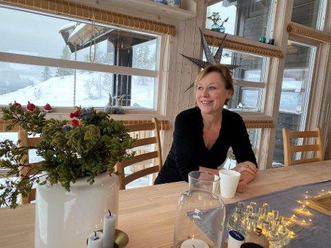 Annechen Bahr Bugge trives best på hytta  i Skrivarlie.
