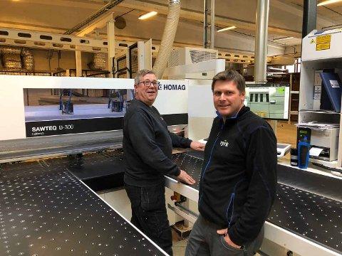 Snudd: Steinar Lyseng (fremst) og broren Reidar Lyseng (ikke på bildet) har snudd fra minus til pluss etter oppkjøpet av Trysil Interiørtre, som nå har skiftet navn til Vyrk.