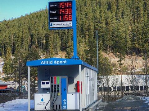 Billig: Valdres Oljeservice AS har lave priser på drivstoff mandag ettermiddag.