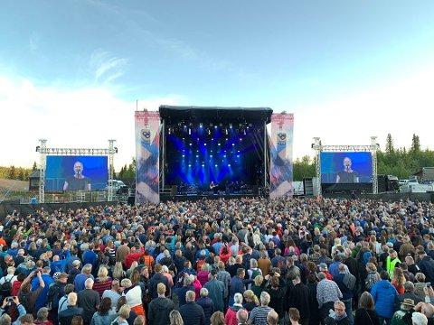 SLIK VAR DET I FJOR: Under debuten i 2019 trakk festivalen flere tusen mennesker til Beitostølen Stadion for å høre på ikonet Sting. I år må Beitostølen Live avlyse arrangementet.