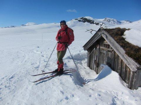 Vinterleg: Sol, vind og godt skiføre prega april i Valdres. Her ved Plankebu, med Skaget bak.