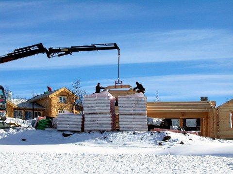 Hyttebygging i Oppland: På fritidsboliger er salget hittil i år ned 8 prosent i forhold til 2019, mens igangsettinga hittil i år er ned 24 prosent sammenlignet med fjoråret.
