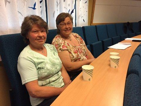Lytta i salen: Systrene Gudrun Kristine Sælid og Anne Gjertrud Sælid Hanslien er grunneigarar i Mørke. Dei har vore i mot næringsområdet frå start av. Torsdag snudde politikarane i saka.
