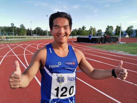 Raskere: Sondre Matias Rudi har aldri løpt raskere enn han gjorde på Lillehammer tirsdag kveld, men drømmen om stafettgull i NM må han mest sannsynlig vente ett år til med å få oppleve.