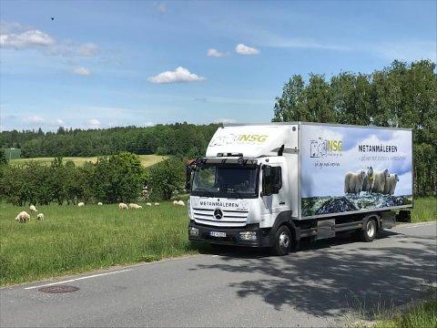METANMÅLEREN: Lastebilen Metanmåleren skal ut på tur for å måle metanutslipp fra sau i Norge. Målet er å kunne avle frem en mer klimavennlig sau.