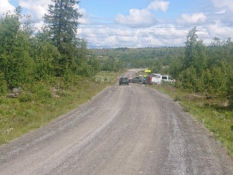 Så langt, men ikke lenger. her må bilister fra Hemsedal-siden snu. Foto:Privat
