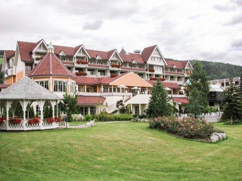 Skjult perle: Bakhagen til hotellet Scandic Valdres på Fagernes blir arena for Stauts fire parkkonserter.