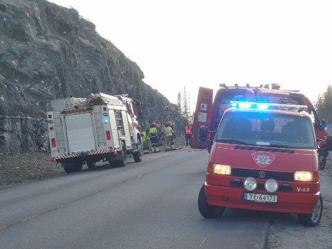 Avisa Valdres var på stedet etter at vegen igjen ble åpnet for trafikk. Arkivfoto: Geir Norling