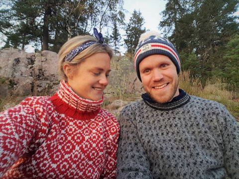 Hyttedrømmen: 2020 ble det beste året så langt for samboerparet Marie Thoresen og Atle Sørlie, som bruker enhver anledning til å reise på hytta si på Nordfjellstølen.