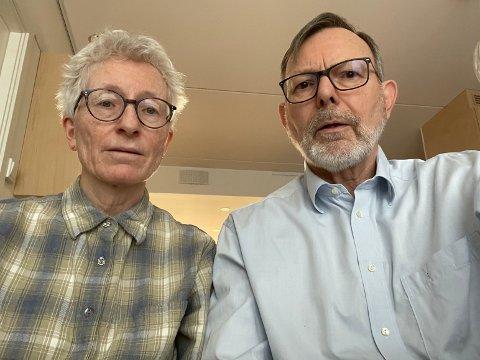 Kritiske: – Vi kan vanskelig se at dette kan realiseres uten at det ødelegger grunnlaget for det valget vi gjorde da vi kjøpte på Aasgarden, skriver ekteparet Marit Bakken Ulsberg (68) og Helge Ulsberg (71).