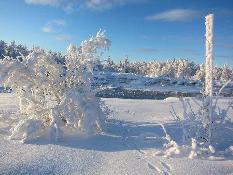Flott men kaldt: Iskulden som prega heile januar held fram til midten av februar.