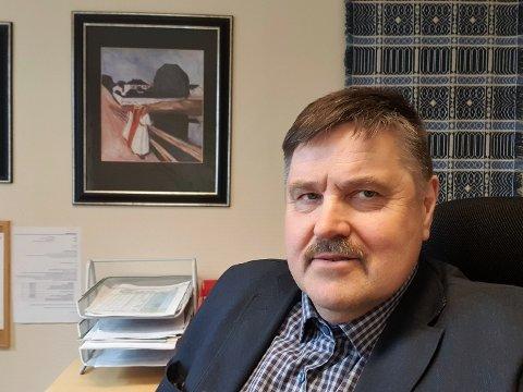 Ordfører Haldor Ødegård forteller om et pressa helseapparat i kommunen for øyeblikket.