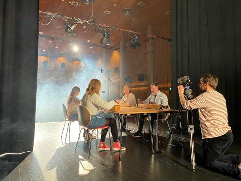 Kulturhuset: Innspeling framfor kamera. Her er Jørn Nyseth Ranum i gang med filminga.