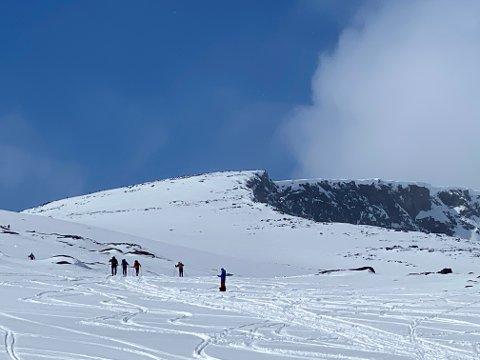 Høgdebrotet: Det er 8 km fra parkeringsplassen ved vegen opp til toppen på 2.226 moh.
