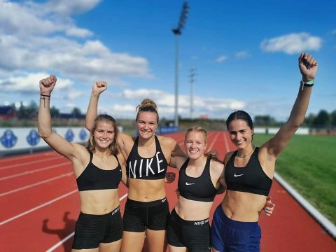 Norsk juniorrekord: Laura Johanna van der Veen fra Fagernes, Mia Evensen fra Orion, samt Maren Bakke Amundsen og Sigrid Kongssund, begge fra Moelven, satte lørdag norsk juniorrekord på 4 x 200 meter for nasjonslag på Hamar. Tiden ble 1.37,42.