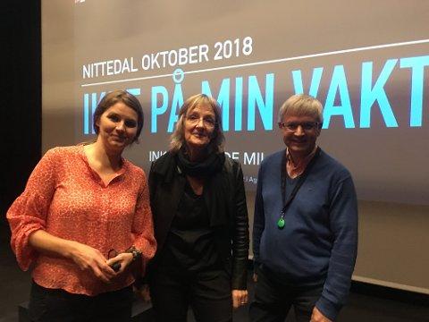 Line Tyrdal,  Ingrid Lund Bjarne Haug Thesen samlet 900 barnehage-, SFO- og skolelærere i Nittedal i Flammen.