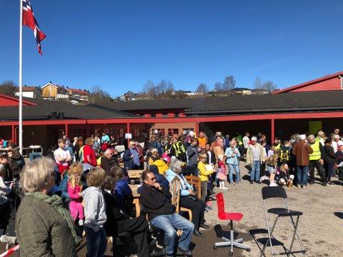 Alt ligger vel til rette for høstens store begivenhet på Ulverud skole; loppemarkedet til Søndre Nittedal skolekorps (Arkivfoto).